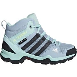 Bleu Chaussures Adidas Terrex AX2R Mid Cp Jr BC0672