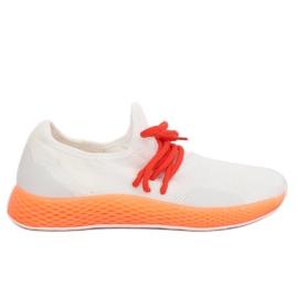 Chaussures de sport blanc-orange B-6851 Orange