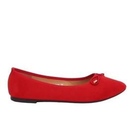 nouveau style 3ae59 513e5 Ballerines pour femmes rouges Shoes ShoesModern - ButyModne.pl