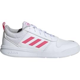 Blanc Adidas Tensaur K Jr. EF1088 chaussures