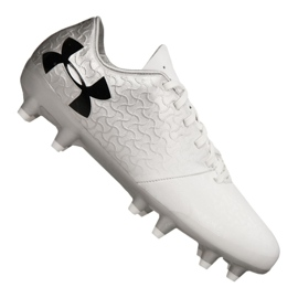 Chaussure de football Under Armour Magnetico Select Fg Jr 3000122-100 blanc blanc