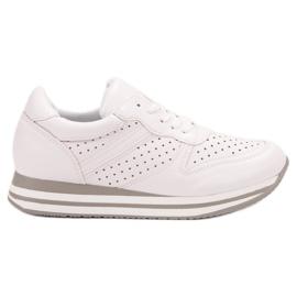 Kylie blanc Chaussures de sport en cuir écologique