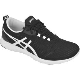 Noir Chaussures de course Asics Supersen W T673N-9001