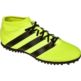 Chaussures de foot adidas Ace 16.3 Primemesh Tf M AQ3429 jaune vert, jaune