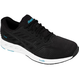 Noir Chaussures de running Asics fuzeX M T639N-9090
