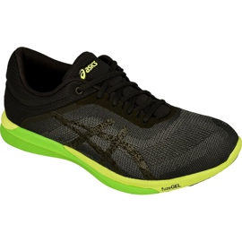 Noir Chaussures de running Asics fuzeX Rush M T718N-9790