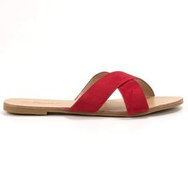 Primavera Pantoufles plates confortables rouge