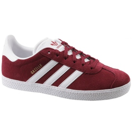 Adidas Gazelle Jr CQ2874 chaussures rouges