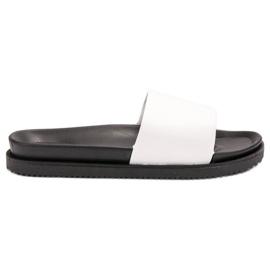 Clowse Pantoufles blanches de femmes
