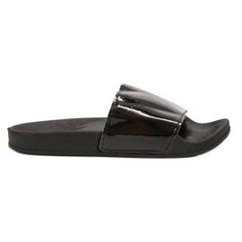 Small Swan Pantoufles noires à la mode