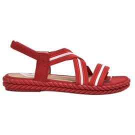 Seastar rouge Sandales confortables pour femmes