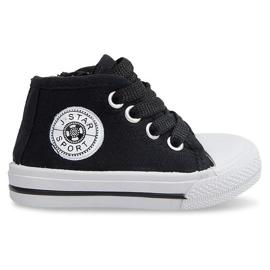High Sneakers pour enfants Y1309 Noir