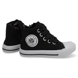 High Sneakers pour enfants Y1312 Noir