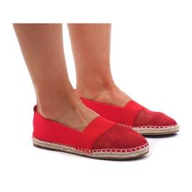Espadrilles Sneakers, ajourées 188-38 Rouge