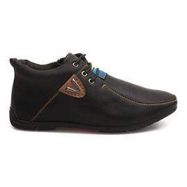 Chaussures Réchauffantes Haut Nouées WF622-3 Noir