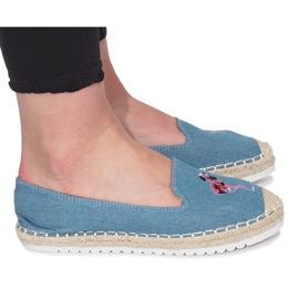 Espadrilles Bleues Flaming Jeans