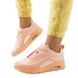 Chaussures de sport orange V0270-1