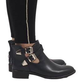 Ideal Shoes Bottillons ouverts bleu marine Y8157