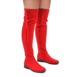 Foreverfolie Bottes chaudes en daim rouge H308