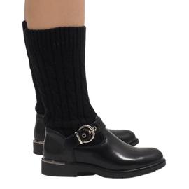 Ideal Shoes Bottes chaudes noires E-4939
