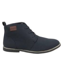 Chaussures homme isolées bleu marine 989-3