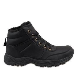 Bottes de neige isolées noires GT-9578