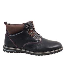 Marine Chaussures pour hommes isolés bleu foncé 7006