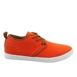 Baskets à lacets orange pour hommes M-021