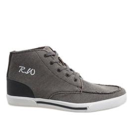 Chaussures montantes élégantes brunes F10455