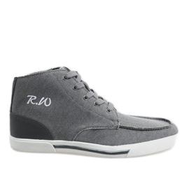 Chaussures montantes élégantes grises F10455
