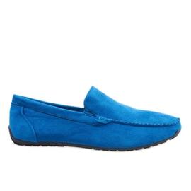 Mocassins élégants bleu foncé chaussures AB07-6