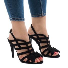 Sandales noires avec noeud 238-C5