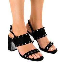 Sandales en daim noir 6912-GL
