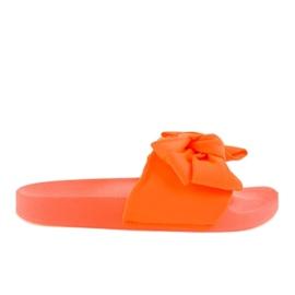 Tongs orange avec un noeud néon MU-6