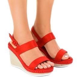 Sandales compensées U-6291 rouges