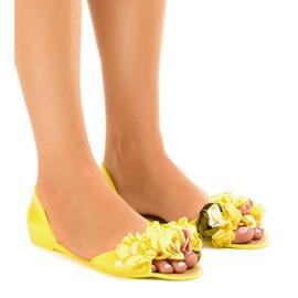 Sandales jaune meliski à fleurs AE20