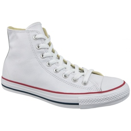 Blanc Converse All Chuck Taylor All Star Hi Leather À 132169C