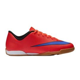 Chaussures de football Nike Mercurial Vortex Ii Ic Jr 651643-650 rouge rouge