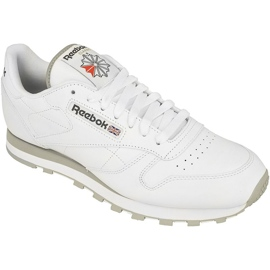 Blanc Chaussures Reebok Classic Leather M 2214