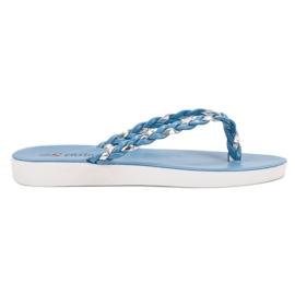 Seastar Tongs tissées bleues