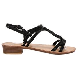 SHELOVET Sandales à talons noir