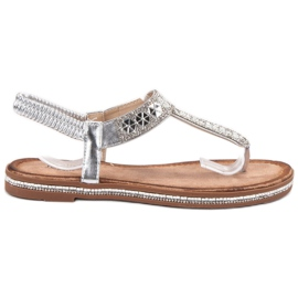 SHELOVET Sandales d'argent gris