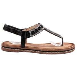 SHELOVET Sandales japonaises noires