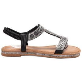 Bello Star Sandales noires décorées