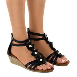 Sandales compensées noires B125
