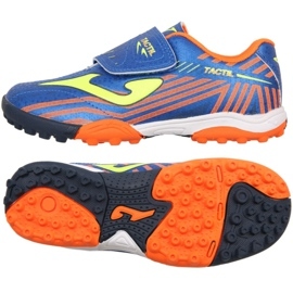 Chaussures de football Joma Tactil 904 Tf Jr TACW.904.TF bleu bleu