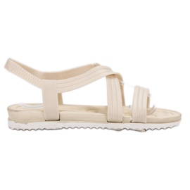 SHELOVET Sandales en caoutchouc à enfiler blanc