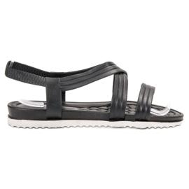 SHELOVET Sandales en caoutchouc à enfiler noir