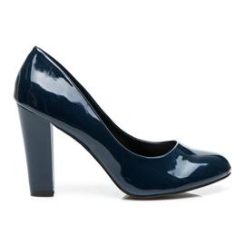 Sweet Shoes bleu Escarpins Laqués Sur Un Bar