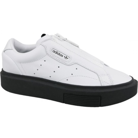 Chaussures Adidas Sleek Super Zip W EF1899 blanc